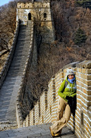 Franzi at the Great Wall