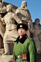 Chinese soldier in Tiananmen Square - Beijing China