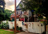"iPhone Image: Old Creepy House, Houston Heights, Texas - ""He is Risen.jpg"", on 7/20/2013"